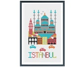 Istanbul Cross Stitch Pattern Instant Download