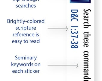 INSTANT DOWNLOAD - LDS Scripture Mastery / Seminary / Scripture Stickers - Sapphire Blue