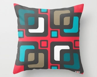 Sixties Decorative throw pillow cover - Colorful pillow cover - Modern pillow cover