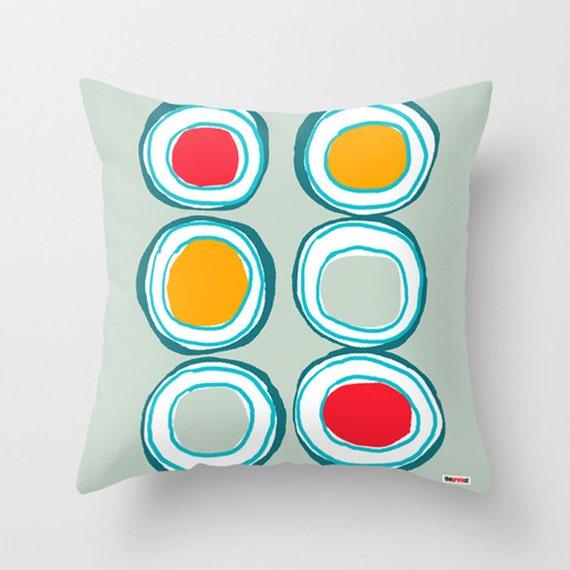 Big Circles Decorative throw pillow cover Lime pillow cover