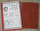 Rubber Stamp Set 2 Featuring the Art of Sunny Carvalho-Unmounted