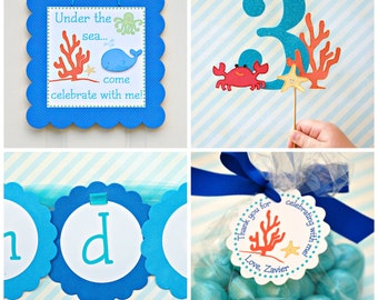 Under the Sea Collection - Custom Banner from Mary Had a Little Party