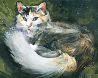 Gwendolyn (Fine Art Print not a real Cat)