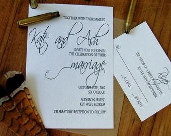 Rustic Wedding Invitation: simple, modern wedding invitations