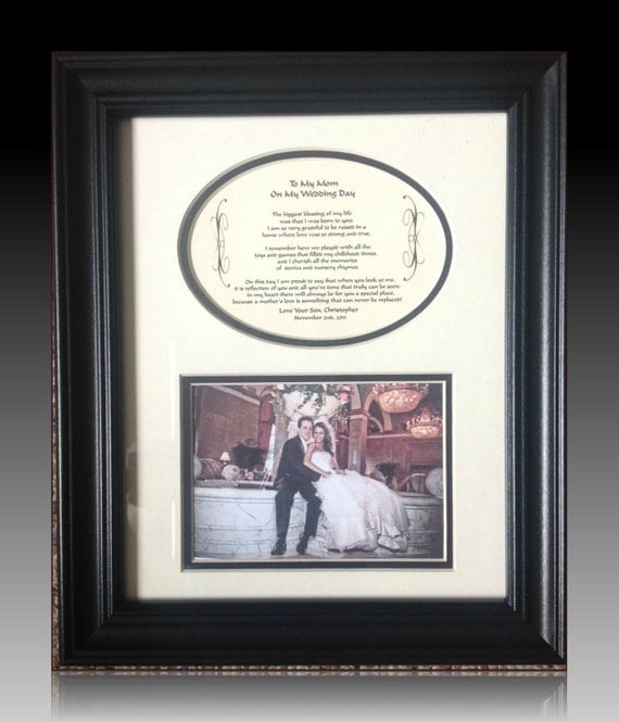 Customary Wedding Gift From Grooms Parents : Wedding Mother of The Groom Personalized Gift Framed thank you wedding ...