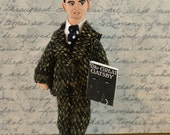 F. Scott Fitzgerald Doll Miniature The Great Gatsby Author Collectible Art