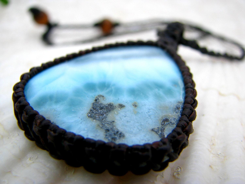 Larimar Gemstone Necklace / Larimar Jewelry by EarthAuraCreations