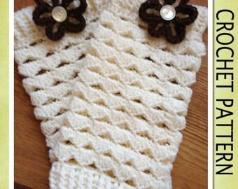 PDF Crochet Pattern - SCALLOPED LEGWARMERS Crochet Pattern- 6 Sizes