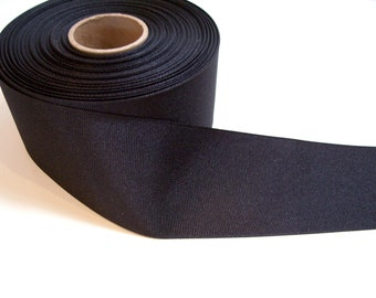 Black Ribbon, Offray Black Grosgrain Ribbon 2 1/4 inches wide x 7 yards