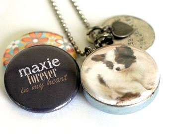 Dog Memorial Jewelry With Picture, Personalized Dog Locket, Dog Lover Gift, Custom Dog Necklace, Keepsake, Interchangeable Locket, Polarity