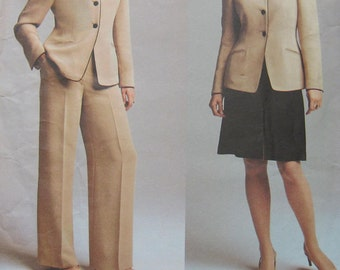 Vogue Anne Klein Jacket Skirt Pant Pattern 2729