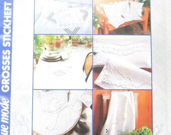 Neue Mode German Hardanger Weiss Stickerei Magazine