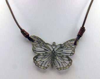 Silver Colored Butterfly Necklace