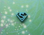Superman Charm for Floating Charm Lockets