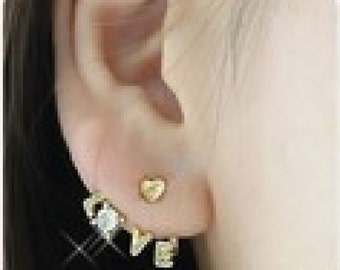 Love Letters and Heart Earrings