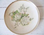 Vintage Rose Plate - Western Gem National China Co - Antique Shabby Chic
