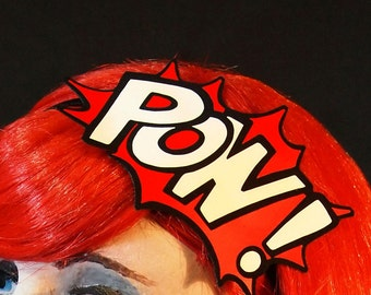 POW! Headband - Glitter Graphic Fascinator