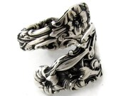 Sterling Silver Spoon Ring Size 6-10 Lily By Whiting