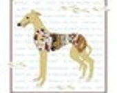 GREYHOUND ADOPTION Color Collage Cross Stitch PDF Pattern Instant Digital Download