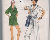 VERY RARE 1970s vintage UNCUT pattern Vogue 9536 size 12 Misses jumpsuit