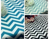 CHEVRON RECTANGLE TABLECLOTH choose color size  table cloth zigzag black lime red purple  blue fuchsia coral yellow 54 72 84 96 108 132