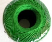 Aunt Lydias Classic Crochet Cotton Thread,  MYRTLE GREEN, size 10, deep dark green