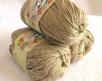 Creme de la Creme Cotton Yarn, DARK LINEN, a tan brown colour, kitchen cotton