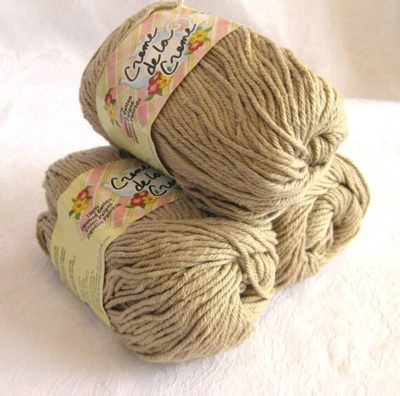 Creme de la Creme Cotton Yarn, DARK LINEN, a tan brown colour, kitchen cotton