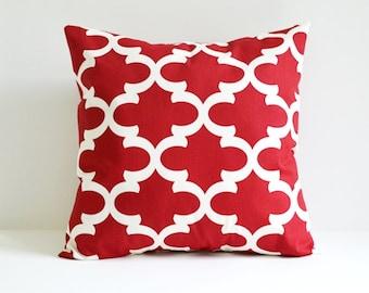 Red Pillow Cover Decorative Pillows Throw Pillows Red Pillow Moroccan Pillow 12x16 18x18 20x20