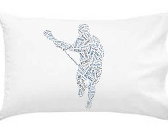 Personalized Pillowcase Lacrosse Pillow Room Decor Boys Gift Monogram
