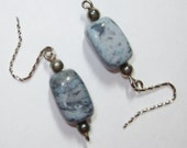 Earrings handmade,Silver earrings,Sterling silver earrings,Laguna lace agate  earrings, laguna lace agate