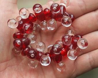 Red Molecules - Handmade Lampwork Glass Beads (SRA)