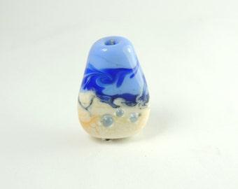 Windy sky Beach bead focal handmade lampwork beads by Diane SRA