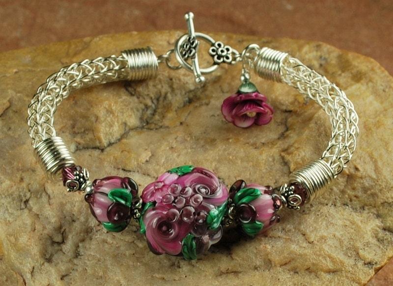 Viking Knitting Tutorial Pdf : Plum rose garden viking knit bracelet tutorial by