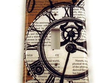 Switchplate Wall Decor  Light Switch Cover Switch Plate  in Time Flies (084S)