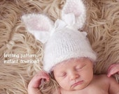 Baby Bunny Hat Knitting Pattern PDF Number 124, INSTANT DOWNLOAD -- Over 35,000 patterns sold -- Permission to Sell the Hats You Knit