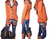original dream - patchwork hoodie cardigan jacket (Q3131S)