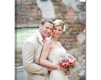 Geezees Custom Canvas Artwork Wedding Wall Decor Personalized Engagement Photo Canvas Art Story of US 18X24 Canvas Vows