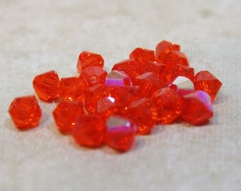 Hyacinth 5301 Bicone Swarovski Crystal Beads 4mm 24 beads