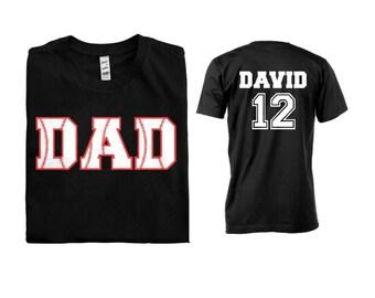 Baseball Dad Men Shirt - Front and Back Design