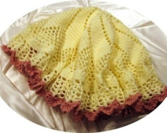 """Crochet Pattern for """"Buttercup"""" Baby Afghan"""