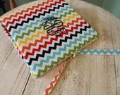Monogrammed three ring binder cover by Watermelon Wishes