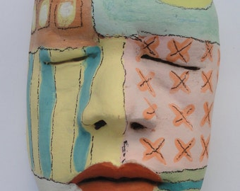 Ceramic sculpture Mask of Celebration  Mask