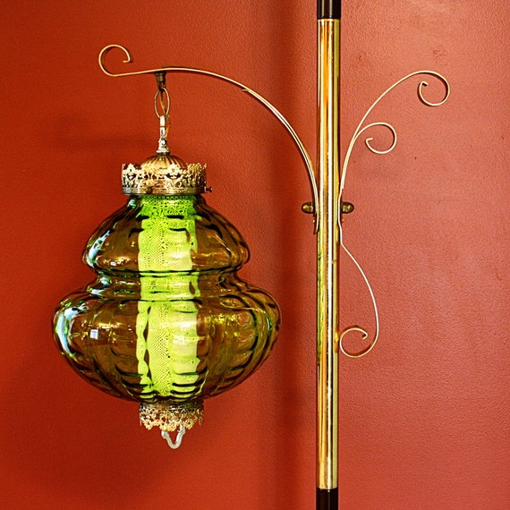 Lamp Ceiling To Floor: Vintage Pole Lamp Tension Lamp Floor To Ceiling By
