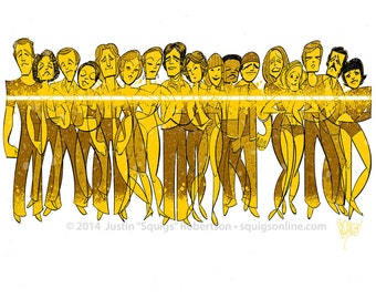 Squigs Limited Edition Print: A Chorus Line