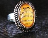 Spirit Ouija Board Spooky Silver Toned Vampire Cameo Ring