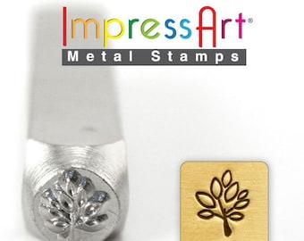 "Leaf Tree METaL STaMP 6mm 1/4"" Steel Punch ImpressArt Stamping Branch Limb Foliage Tool Jewelry Making Tool"