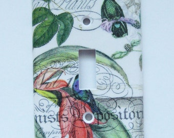 Bird of Paradise Single Switchplate - Wall Art - Decorative Switch Cover