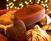 Holiday Sale - Gingersnap Cookie Soap - Molasses Cappuccino Mica, Spicy Gingerbread - Holiday Bakery Soap