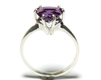 Alexandrite Silver Ring Made to order in your size